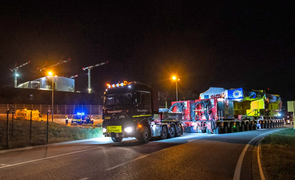 The heavy exceptional convoy carrying Europe's Toroidal Field coil to the ITER site