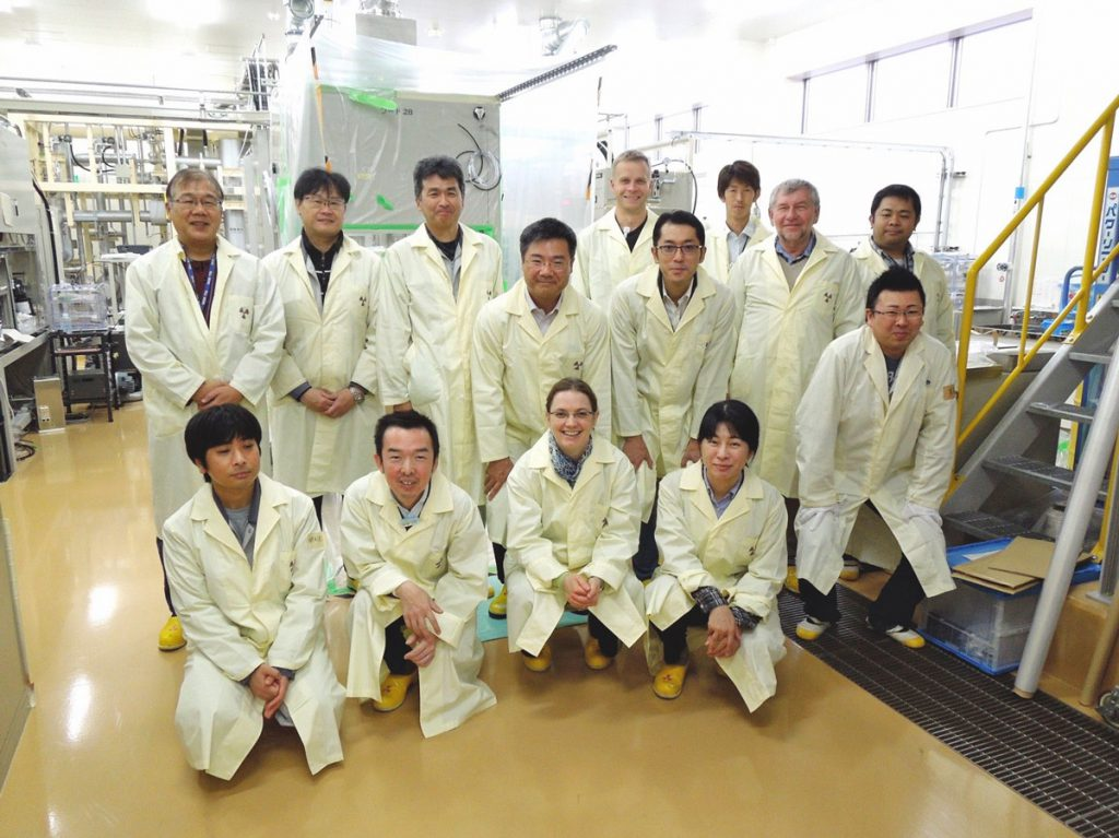Members of the Joint Team at the Radioactive Isotope Experimental room