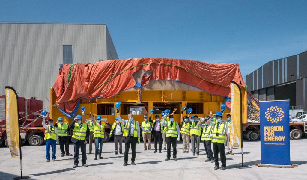 welcoming the sixth Poloidal Field coil on-site