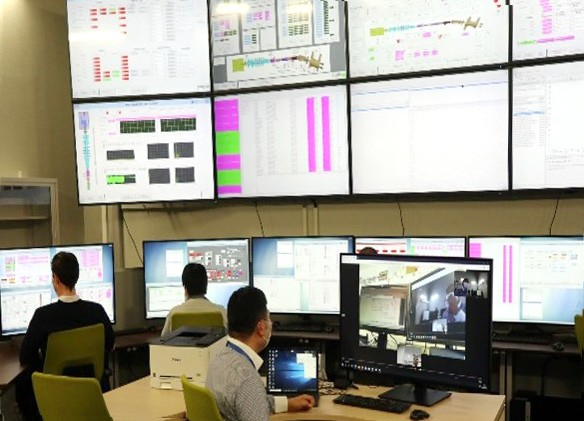 Control Room with many screens.