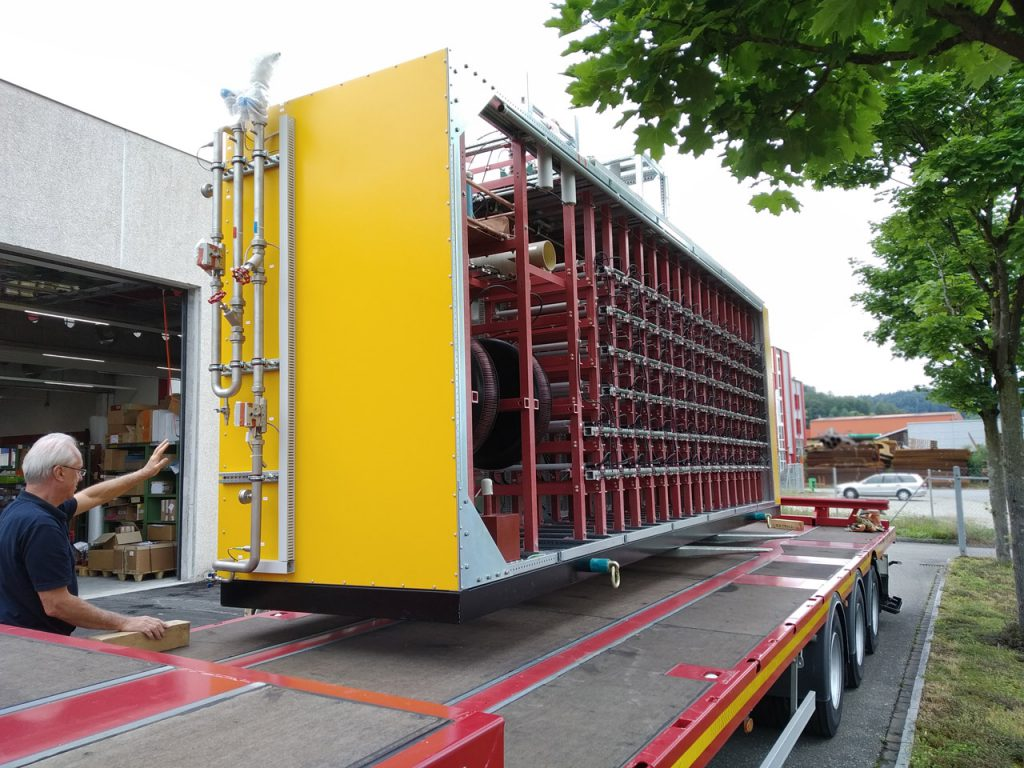 loading the equipment