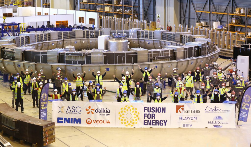 Successful final cold tests for Europe's fifth Poloidal Field coil, F4E Poloidal Field Coils factory, Cadarache, France