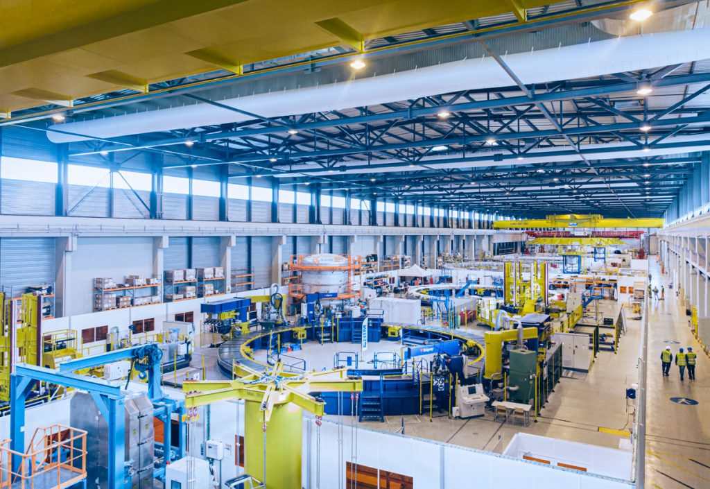 The interior of ITER PF coils factory