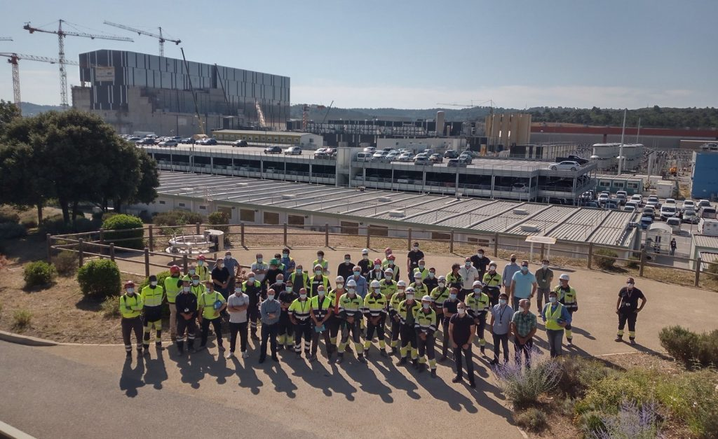 Farewell coffee break for IREM and TCPI workers held on ITER site by the end of June 2021.